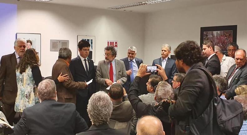 Condsef participou de reunião com líderes da oposição no Senado (Reprodução)
